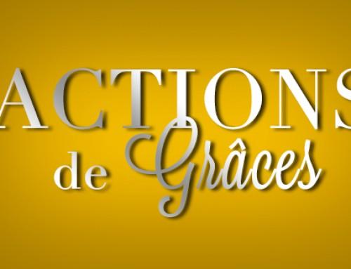 Actions de grâces